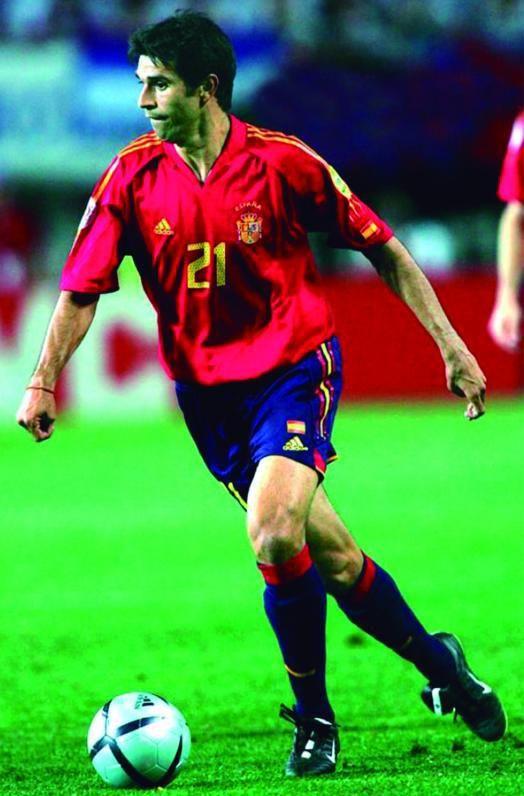 Valerón, en el estadio del Feyenoord, en la Euro de Holanda y Bélgica 2000.