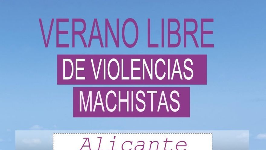 """Alicante se suma a la campaña """"Verano libre de violencias machistas"""""""