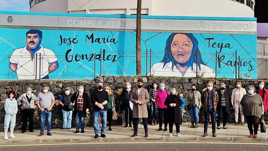 La Laguna homenajea a los luchadores Parri II y Teya Ramos con un mural en Taco