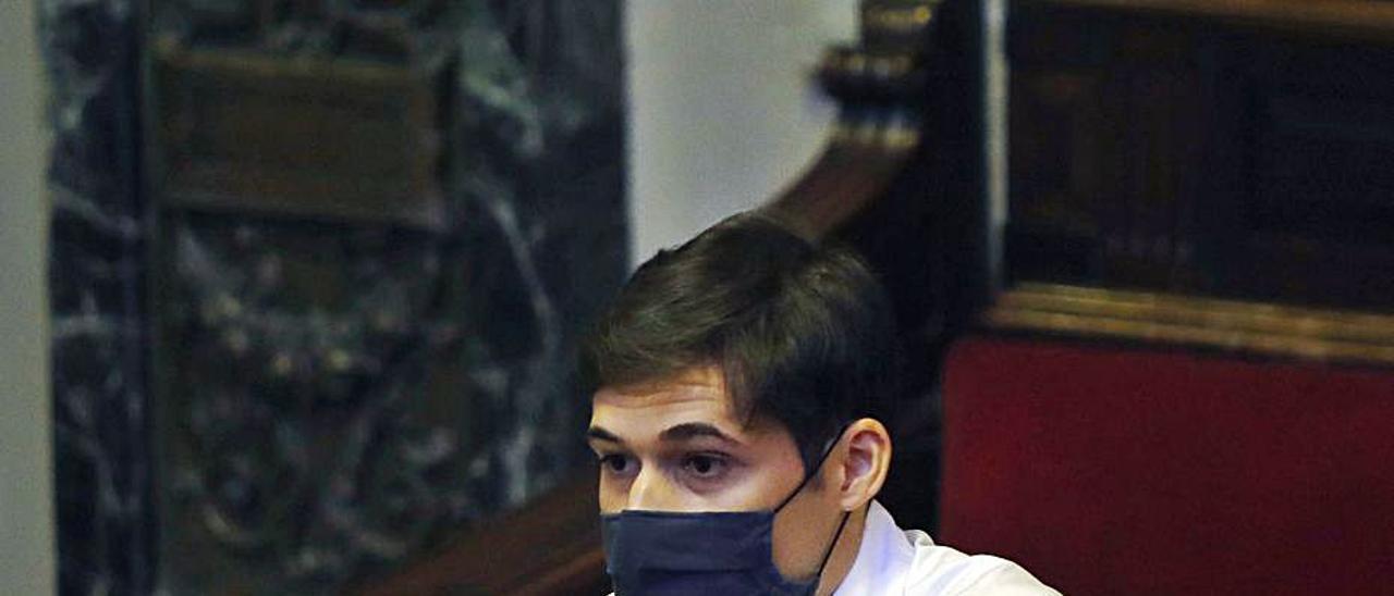 Borja Sanjuán durante un pleno del ayuntamiento.