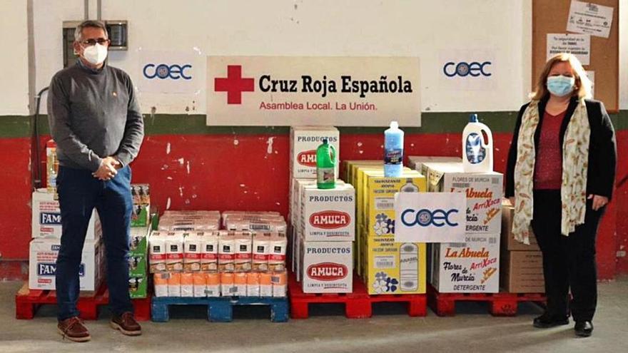 COEC entrega 600 kilos de producto a Cruz Roja La Unión