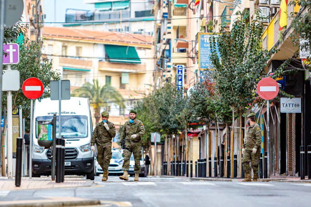 El Mando de Operaciones especiales toma Benidorm en pleno estado de alarma