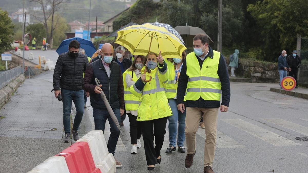 Visita de la conselleira de Infraestruturas a las obras. // FdV