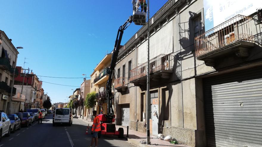 Palamós inicia la renovació de l'enllumenat públic de la majoria d'avingudes centrals del municipi