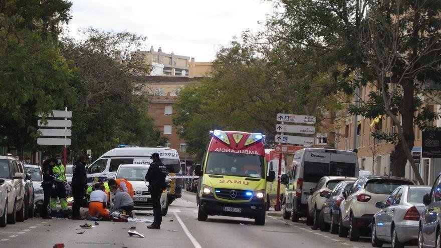 Un motorista de 48 años muere en un choque en Dénia
