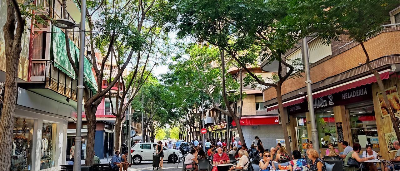 La avenida de la Libertad, punto neurálgico de San Vicente.