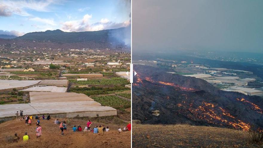 Las dos caras de la catástrofe del volcán de La Palma