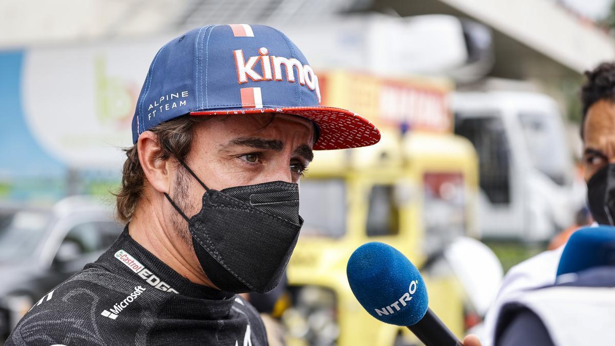 Fernando Alonso, durante las 24 Horas de Le Mans 2021.