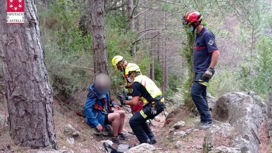 Rescate aéreo de un senderista lesionado en Pobla de Benifassà