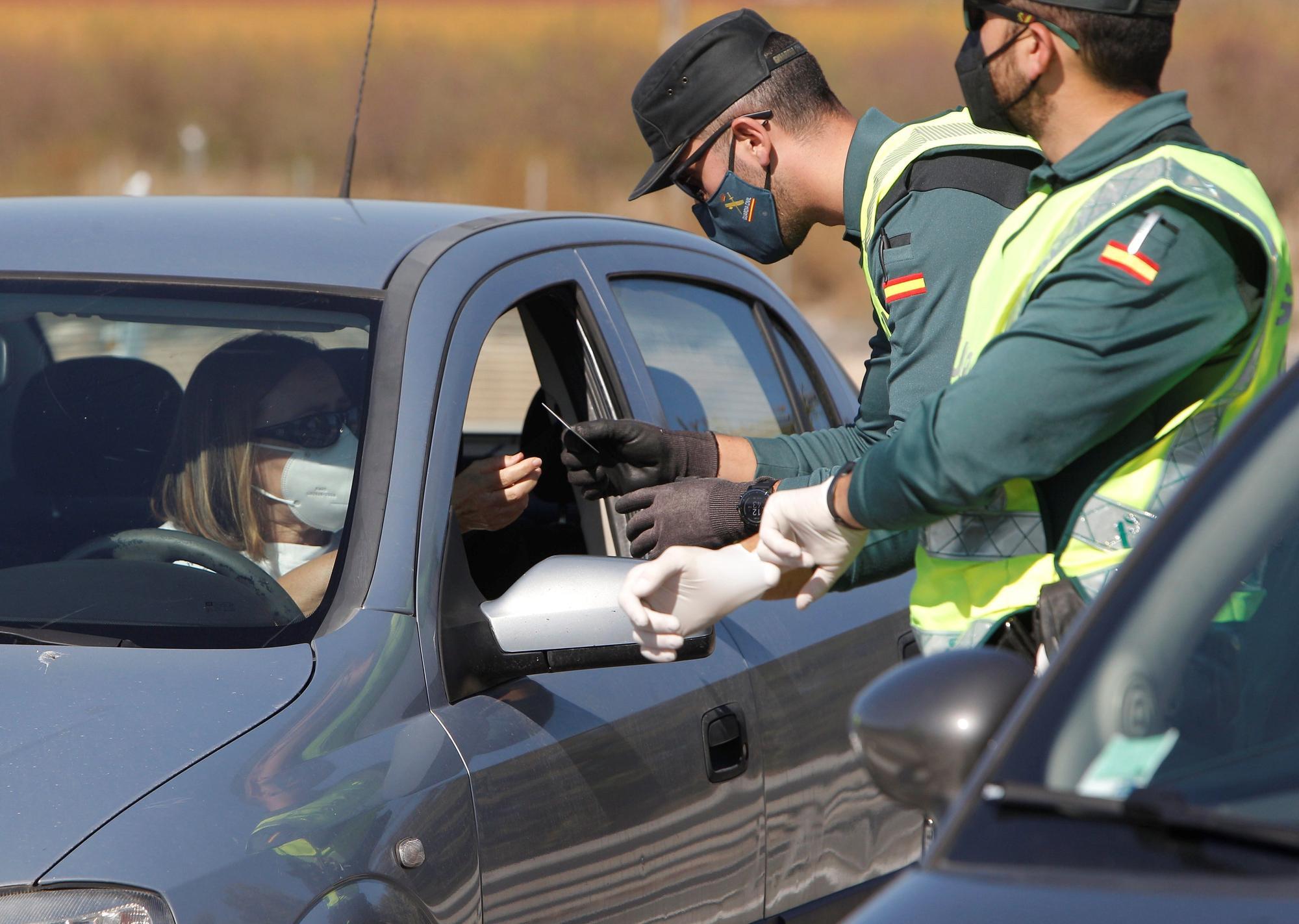 Cierre perimetral en la Comunitat Valenciana: Controles de entrada y salida a Valencia