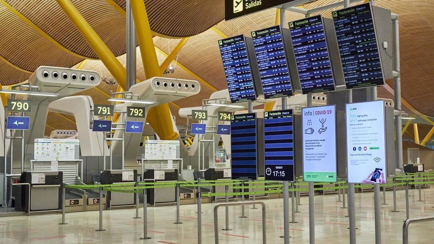 Los aeropuertos de Aena registraron un 85,1% menos de viajeros entre enero y febrero
