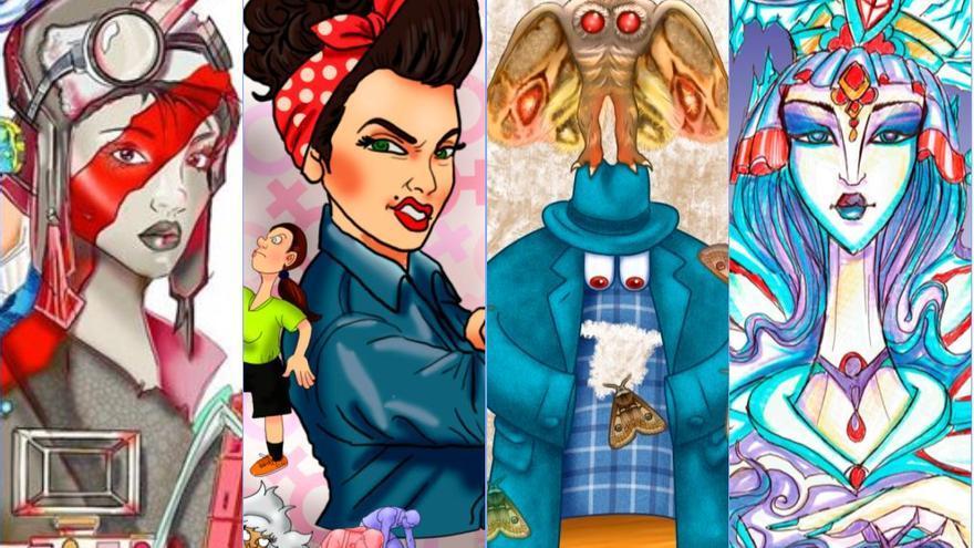 Todos los bocetos de las Fallas 2021, ordenados por secciones