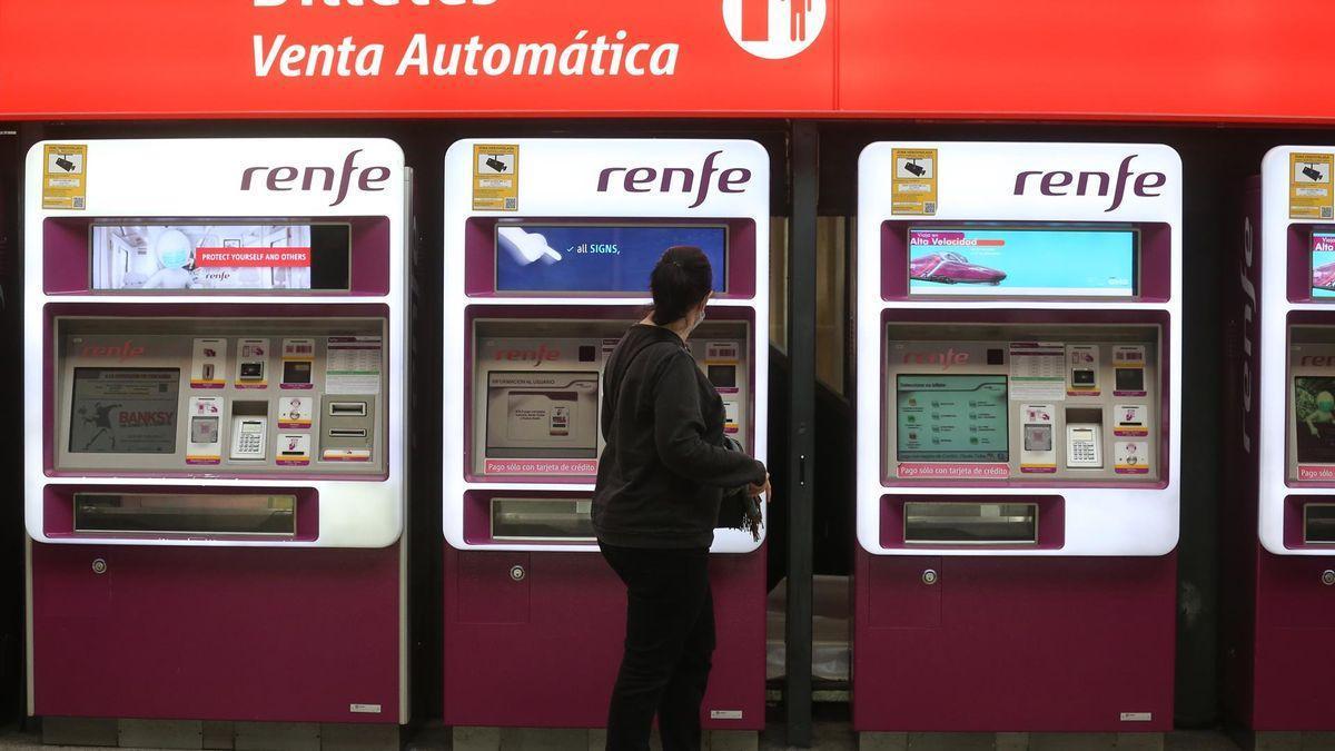 Máquina para la venta automática de billetes.