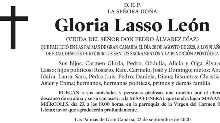 Gloria Lasso León