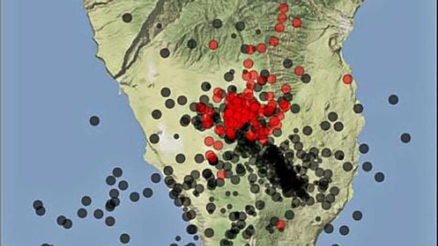 El volcán de Cumbre Vieja acumula  138 terremotos en apenas 24 horas