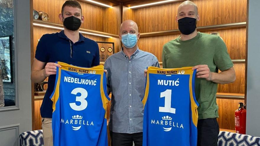 Mutic y Nedeljkovic, ganas e ilusión de seguir creciendo en el CB Marbella