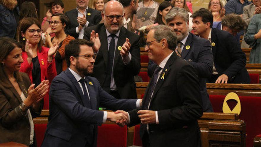 El Parlament tomba la moció contra Torra amb els únics vots a favor de Cs i PPC