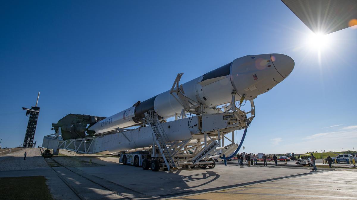 El cohete Falcon 9.