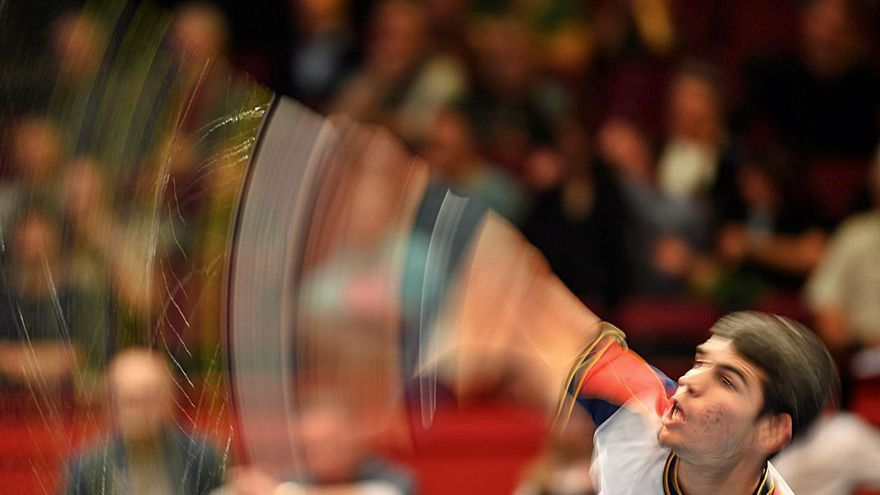 Carlos Alcaraz, segundo murciano en defender a España en la Copa Davis
