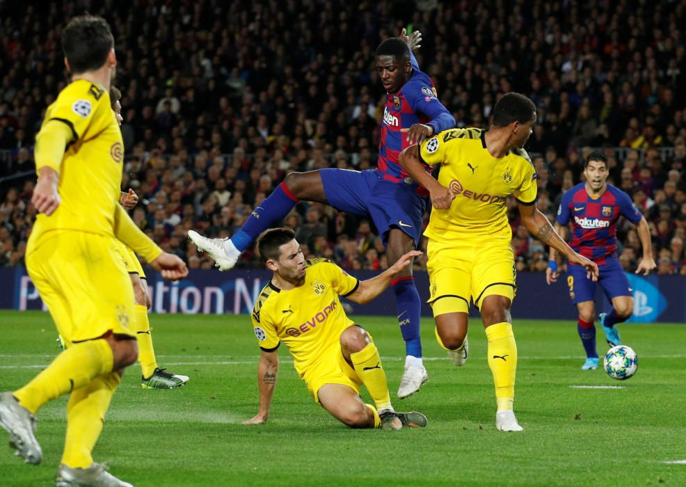 El Barça - Borussia Dortmund, en fotos