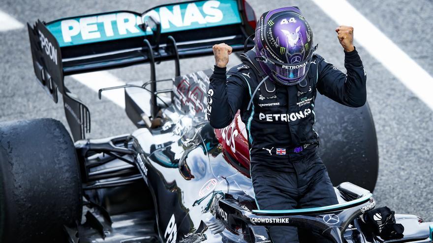 Lewis Hamilton gana el Gran Premio de España