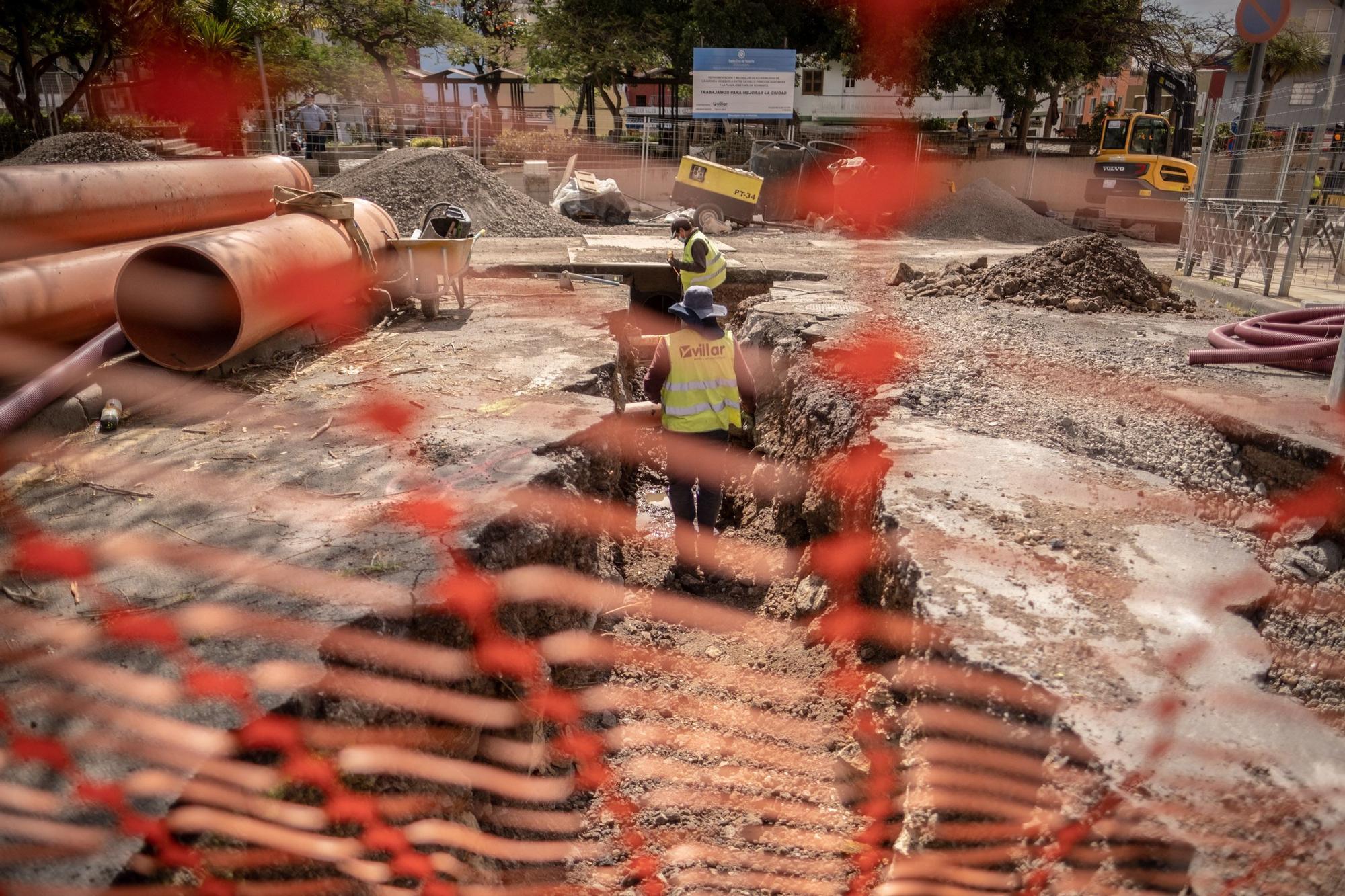 Obras en la avenida Venezuela