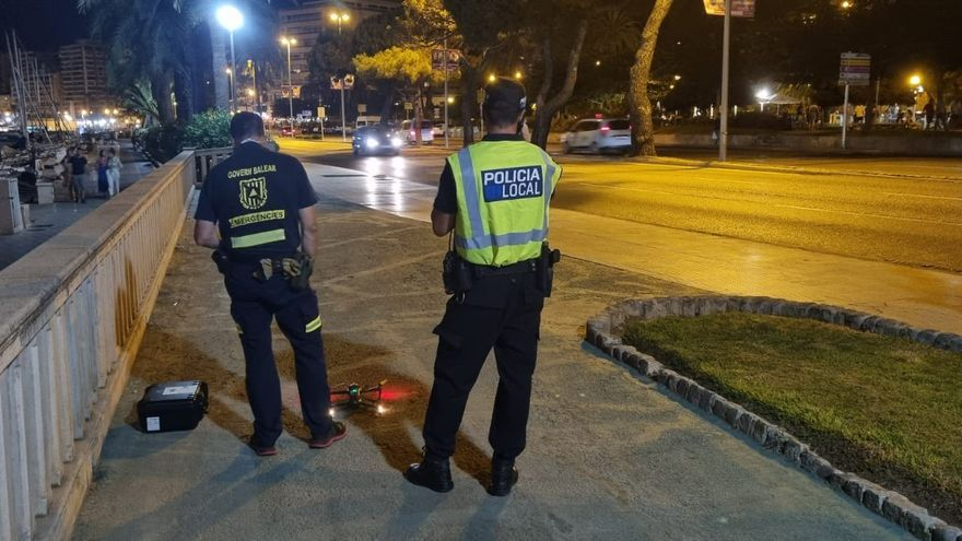 La policía controla con un dron que no haya botellones en Palma