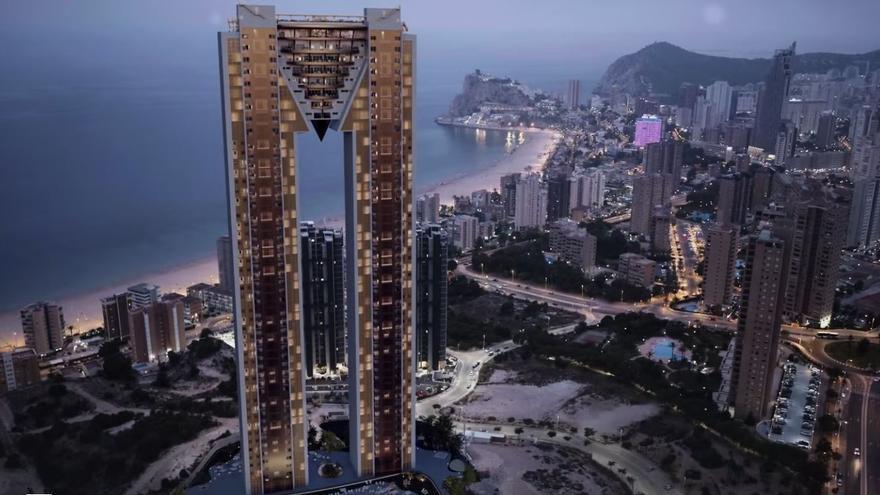 Las obras del rascacielos Intempo Sky Resort de Benidorm llegan a su fin