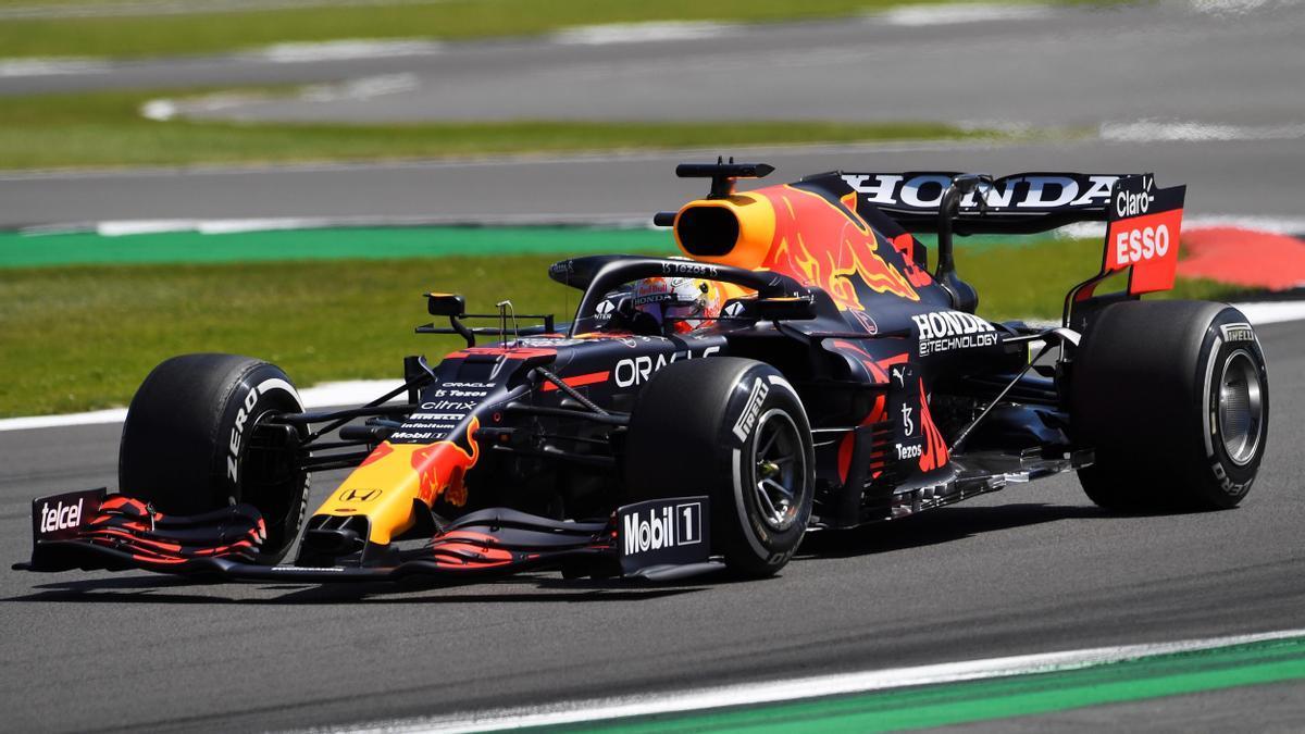 Max Verstappen, en el circuito de Silverstone.