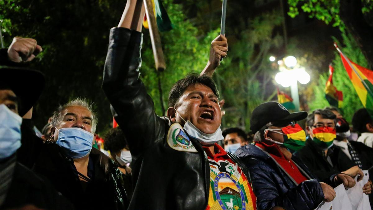 Protestas tras la detención de Áñez.