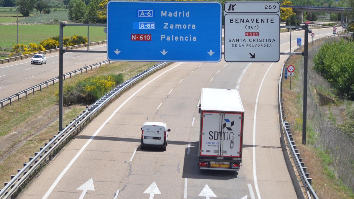Autovías a su paso por Benavente y comarca. / E.P.