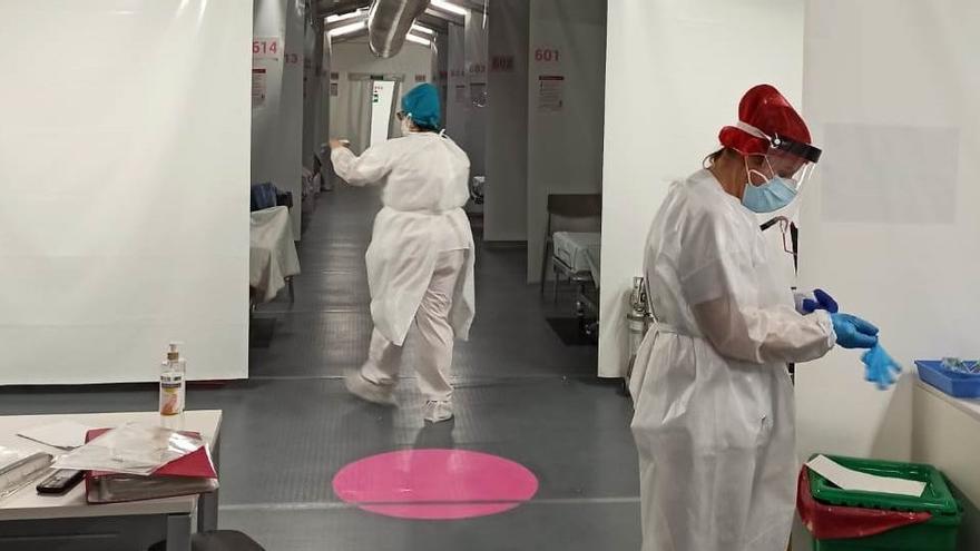 El hospital de campaña de Castelló recibe a los primeros pacientes con coronavirus