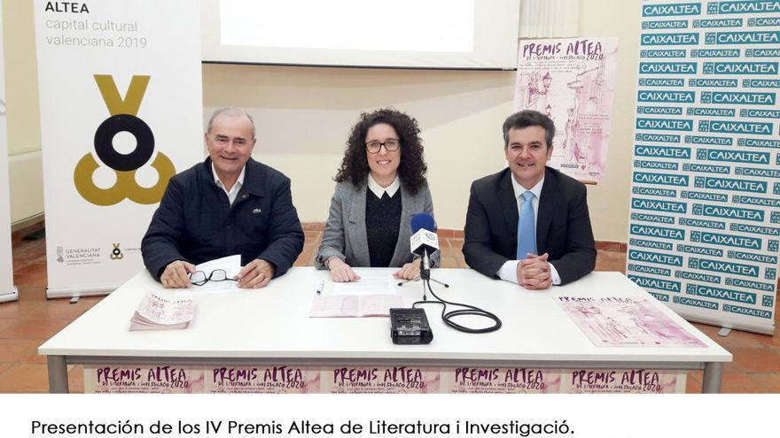 Los Premis Altea de Literatura i Investigació aumentan su dotación económica hasta los 12.000 € en su 4ª edición