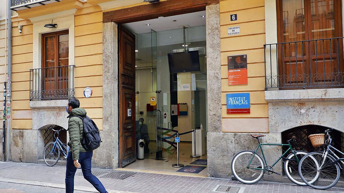 Sede del Instituto Francés de València, en la calle Moro Zeit.