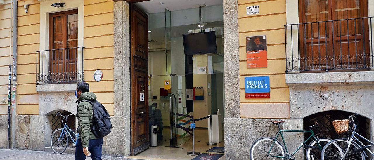 Sede del Instituto Francés de València, en la calle Moro  Zeit.  M.A.montesinos