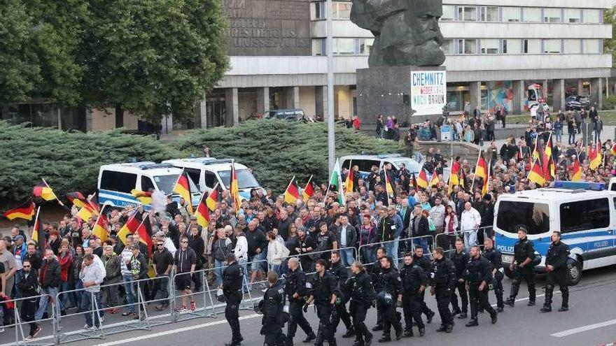 Nueva protesta ultra en Chemnitz mientras la CSU bávara pide unidad