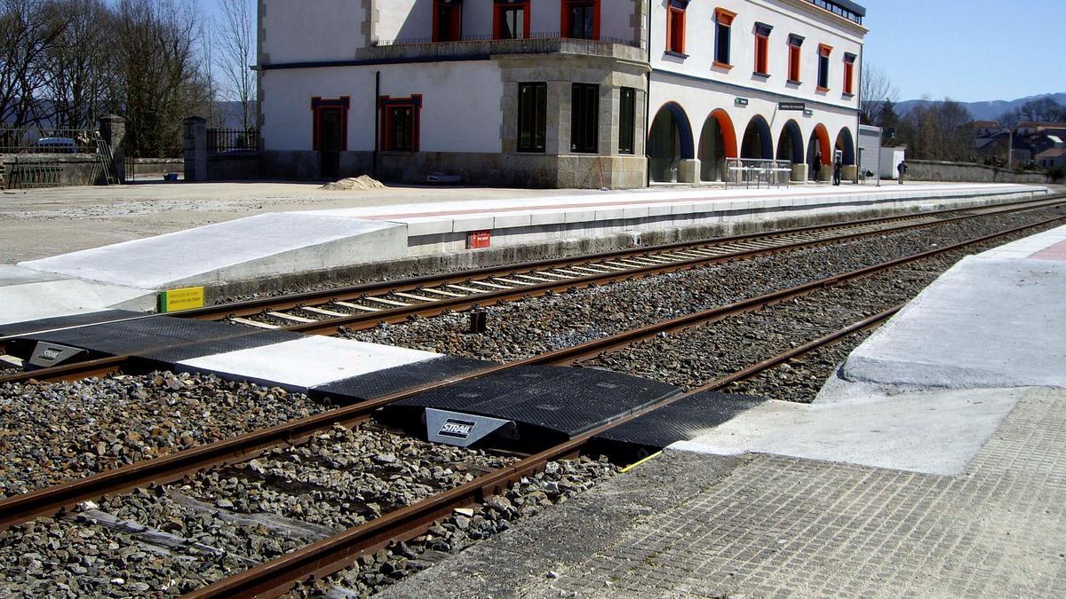 Estación donde se producirá el corte de la línea, en Galicia