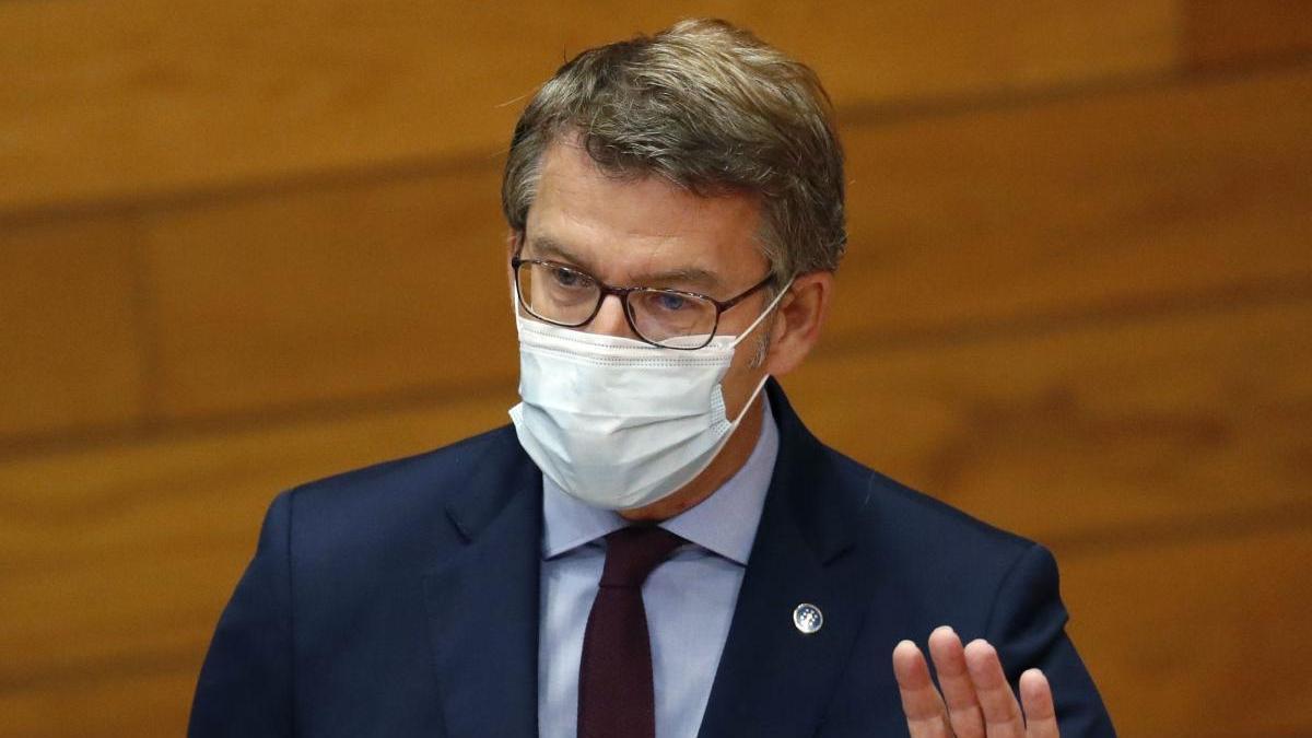Feijóo, este miércoles en el Parlamento. // Lavandeira Jr.