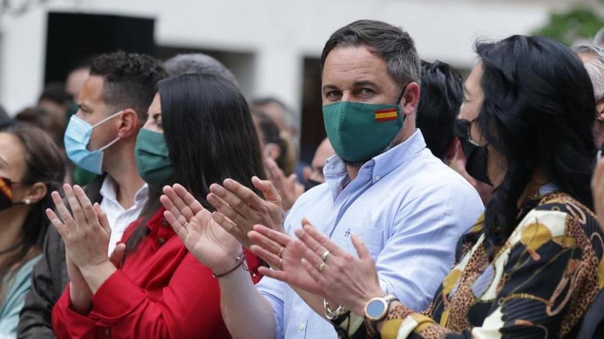 Santiago Abascal, en un acto en Vitoria.