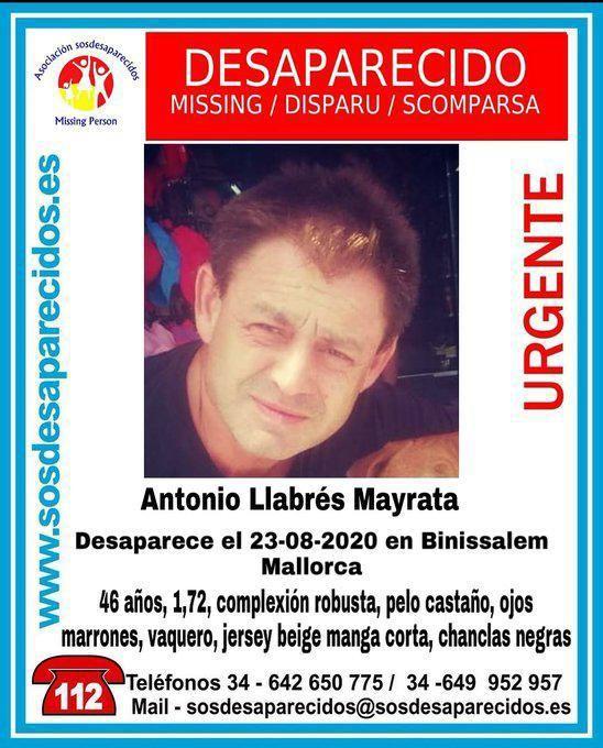 «Estoy atado»: la última comunicación del hombre desaparecido en Binissalem