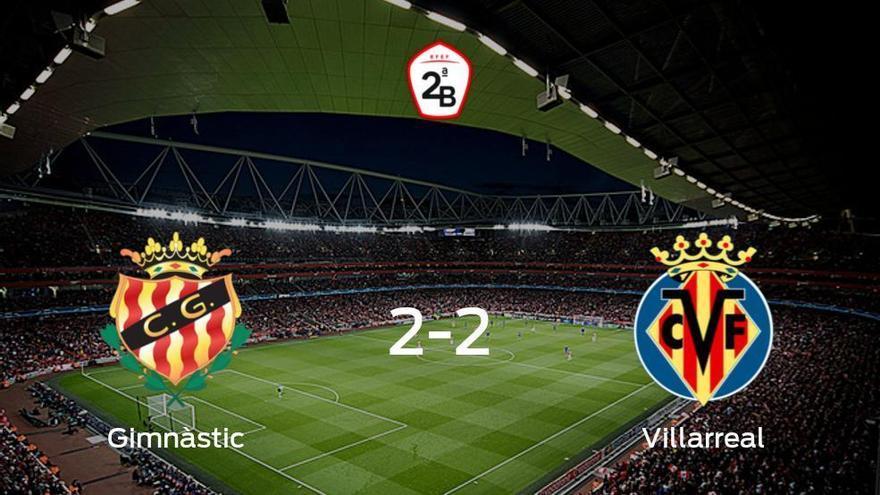 El Gimnàstic Tarragonay el Villarreal Bse reparten los puntos y empatan 2-2