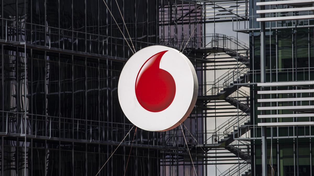Logo de la sede de Vodafone.