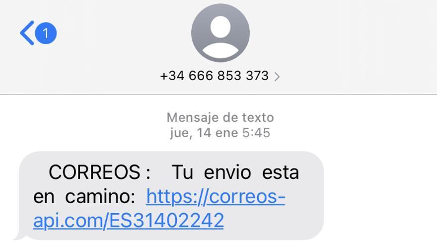 ¿Tienes un SMS de Correos?: cuidado, es una estafa