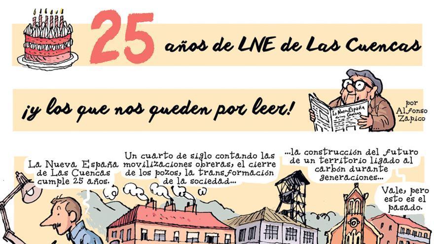 25 años de LNE de las Cuencas, ¡y los que nos quedan por leer!