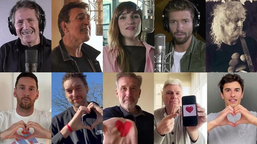 De Brian May a Messi: más de 50 celebridades se unen en un nuevo 'Himno a la alegría'
