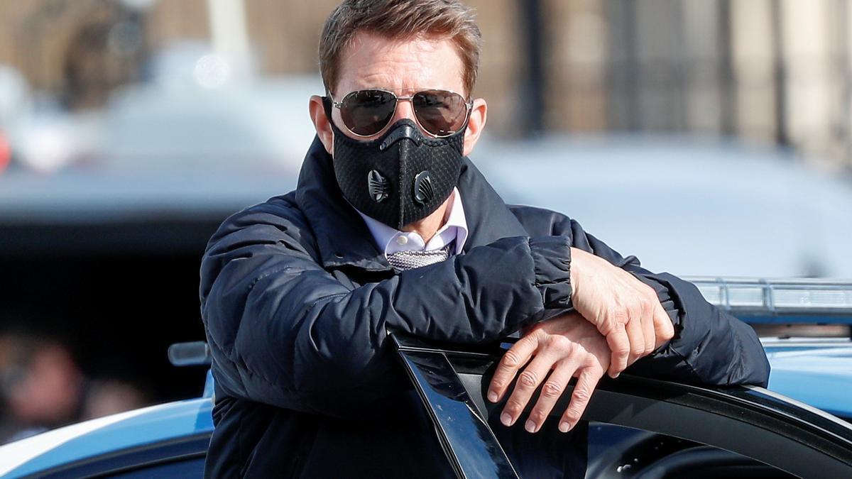 Tom Cruise, durante el rodaje de 'Misión Imposible 7'.