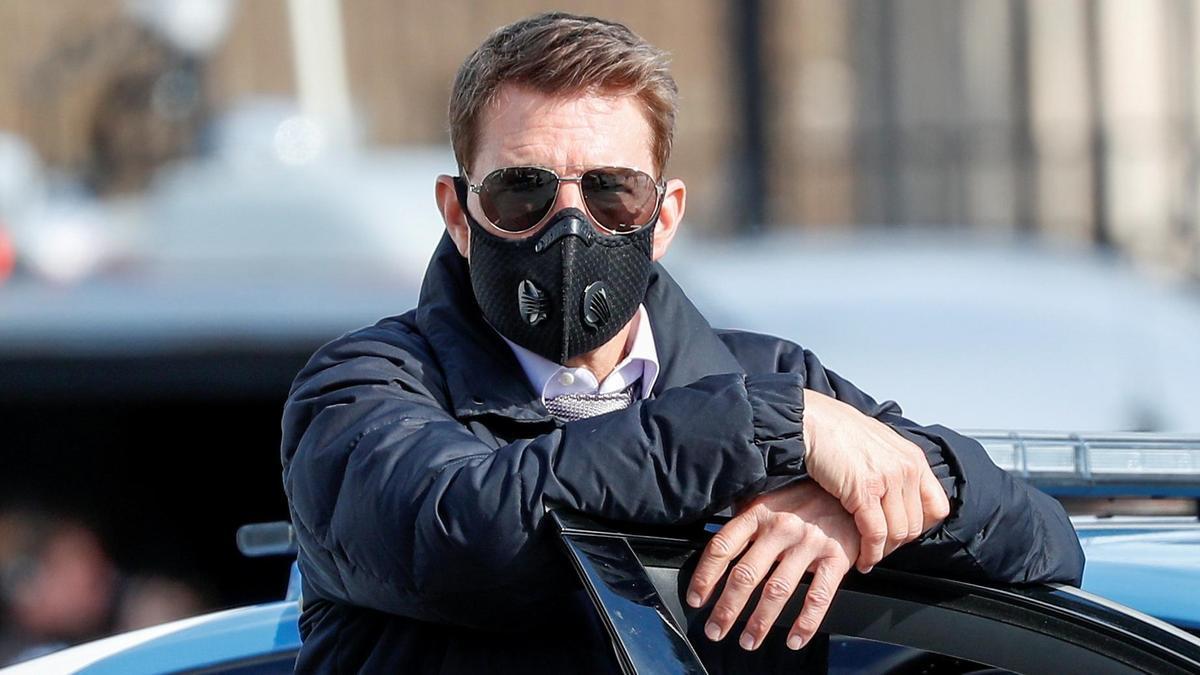 Tom Cruise en la grabación de la nueva entrega de 'Misión Imposible'.