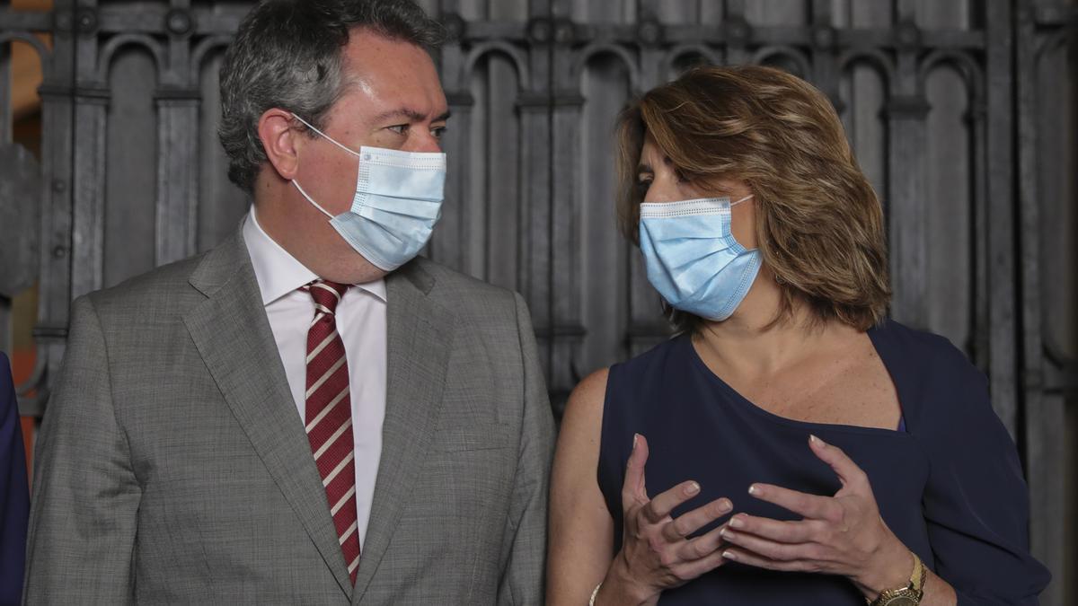 Susana Díaz junto a Juan Espadas, en una imagen de archivo.