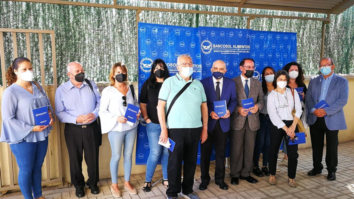El presidente de Bancosol en el acto con los coordinadores de distintas asociaciones