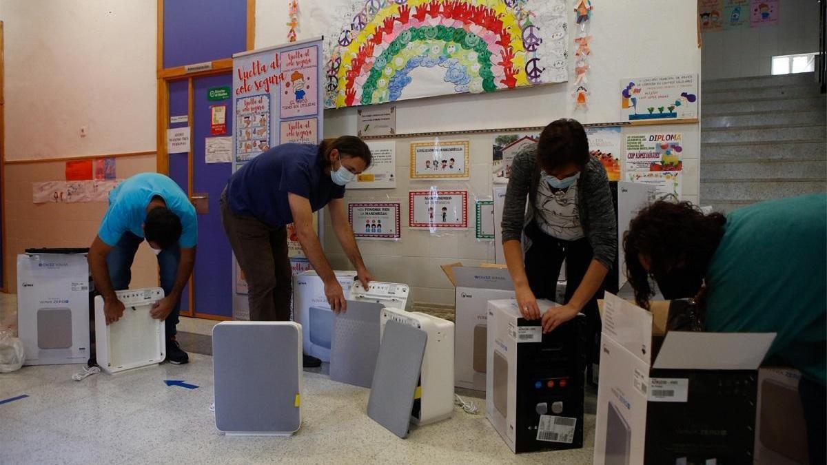 El Ayuntamiento de Córdoba instalará purificadores de aire en los 87 colegios públicos de la capital